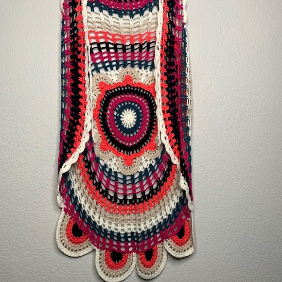 Scout Crocheted Open Face Sleeveless Vest